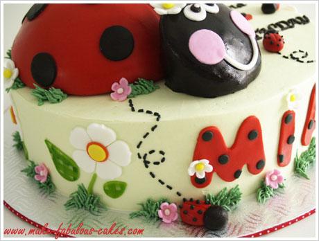 Remarkable A Ladybug Birthday Cake Funny Birthday Cards Online Elaedamsfinfo