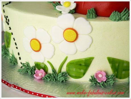 A Ladybug Birthday Cake