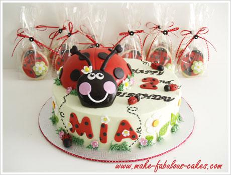 ladybug cakes and cookies