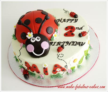 make a ladybug birthday cake