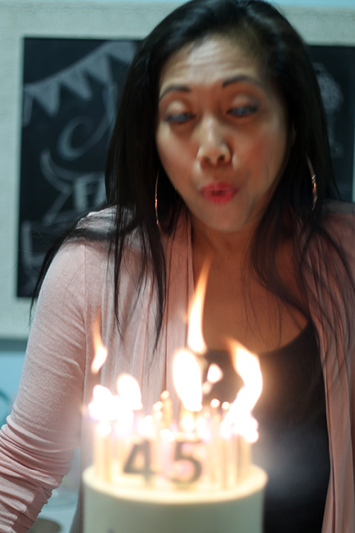 45 birthday candles