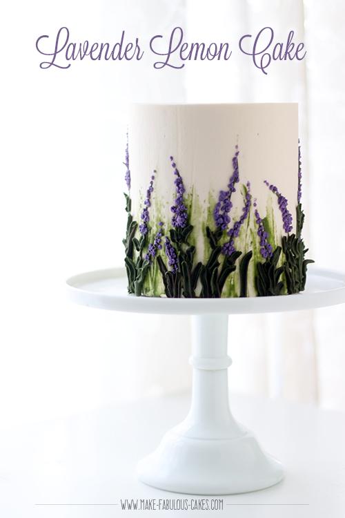 Lavender Lemon Cake with White Chocolate Buttercream