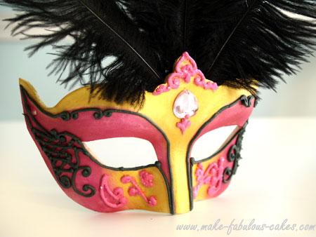 gum paste venetian mask tutorial