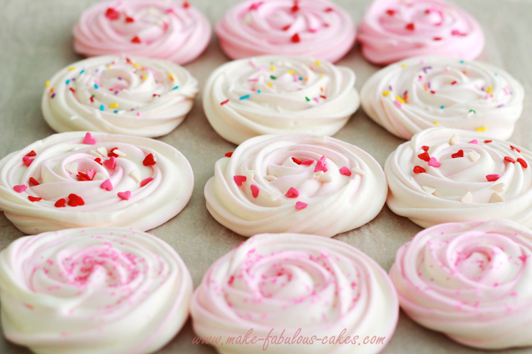 Meringue Cookies two toned colors