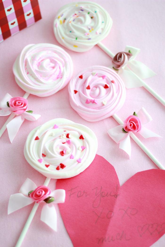 Meringue Pops - homemade valentines gift