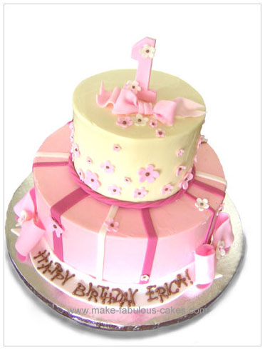 Pleasant First Birthday Cake For A Girl Funny Birthday Cards Online Unhofree Goldxyz