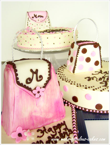 mother s day cake   purses for mom