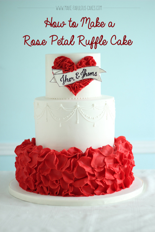 Rose Ruffle Wedding Cakes