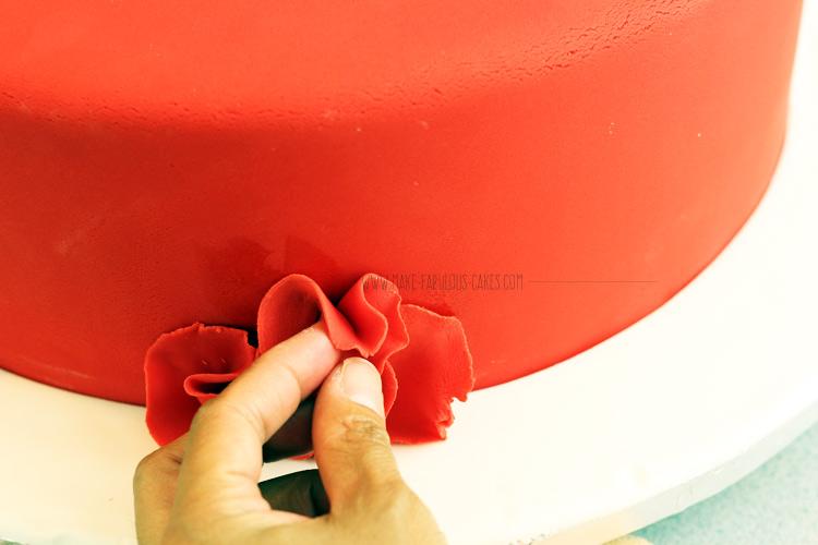 Rose Petal Ruffle Cake