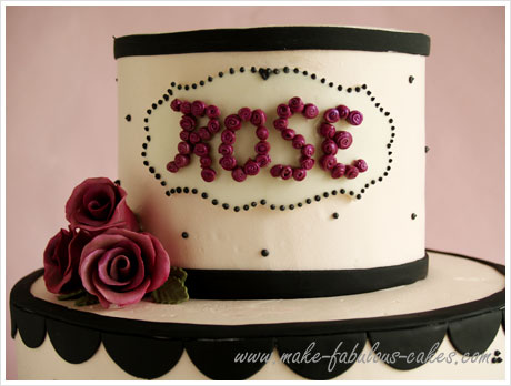 Excellent A Rose Y 50Th Birthday Cake Personalised Birthday Cards Veneteletsinfo