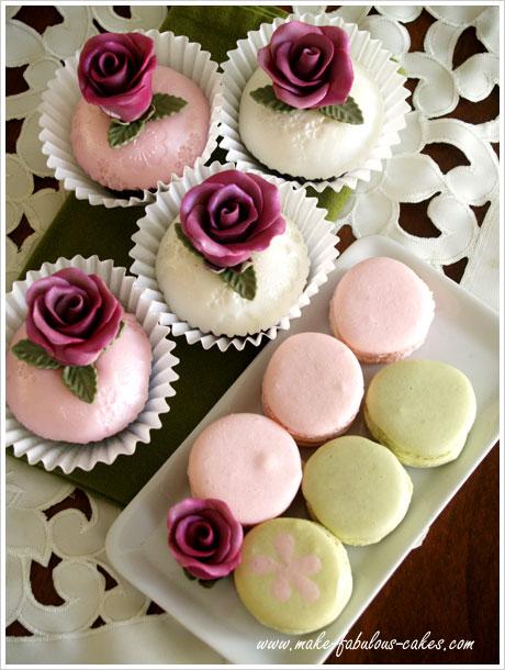 Rose Cupcakes And Macarons
