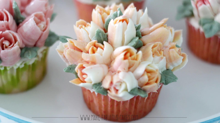 three-toned buttercream
