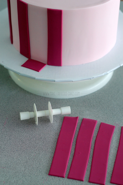 Striped Fondant Cake Tutorial