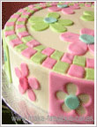 Spring flwoer cake