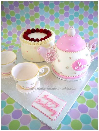 How To Make A Tea Pot Shaped Cake