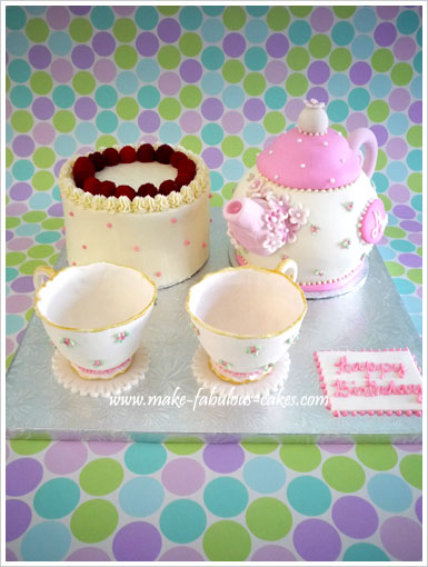 Superb A Teapot Cake Personalised Birthday Cards Cominlily Jamesorg