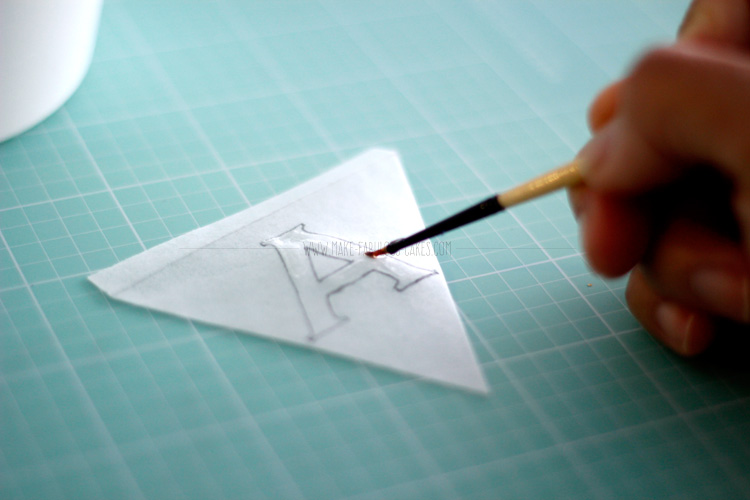 wafer paper bunting tutorial