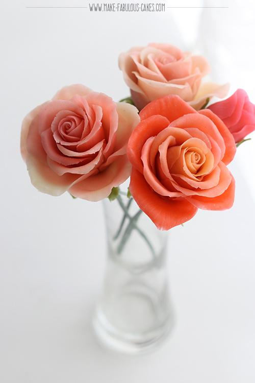 bean paste roses