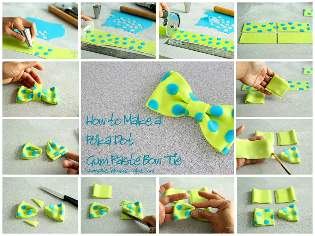 Polka Dot Gum Paste Bow Tutorial