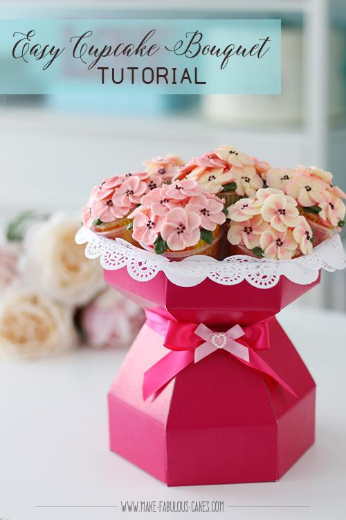 Easy Cupcake Bouquet Tutorial