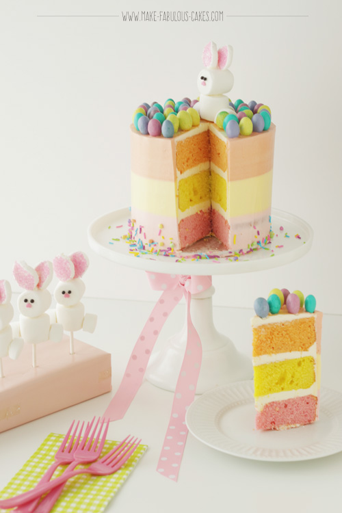 Easter Cake with Marshmallow Bunny