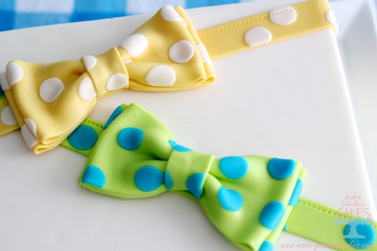 gum paste bow ties