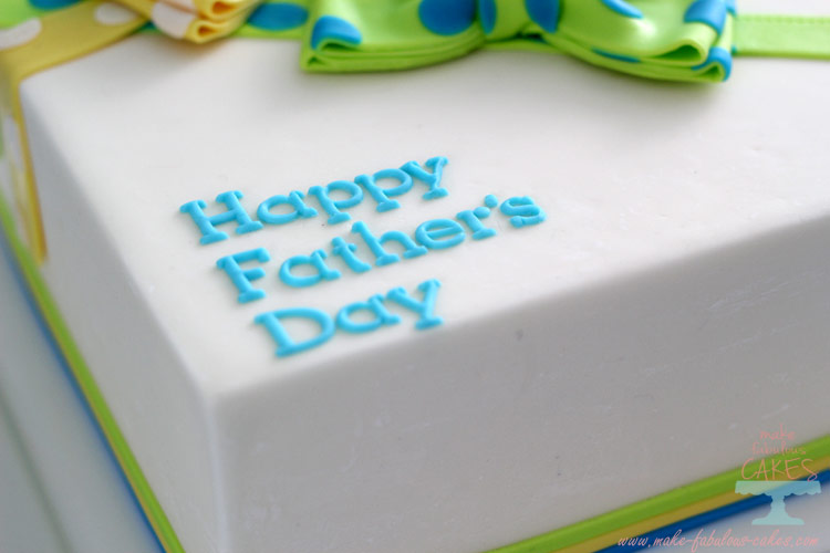 fathers day bow tie cake