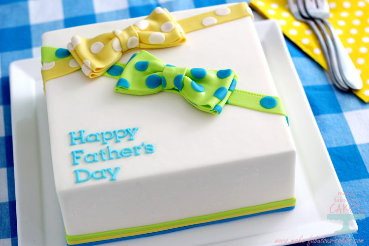 Fathers Day Cake : Bow Tie Cake
