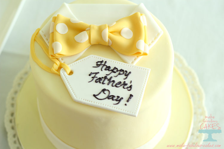 yellow fathers day cake
