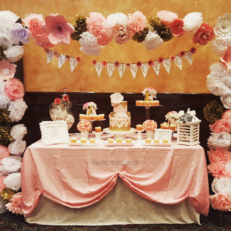 Glamorus Dessert table