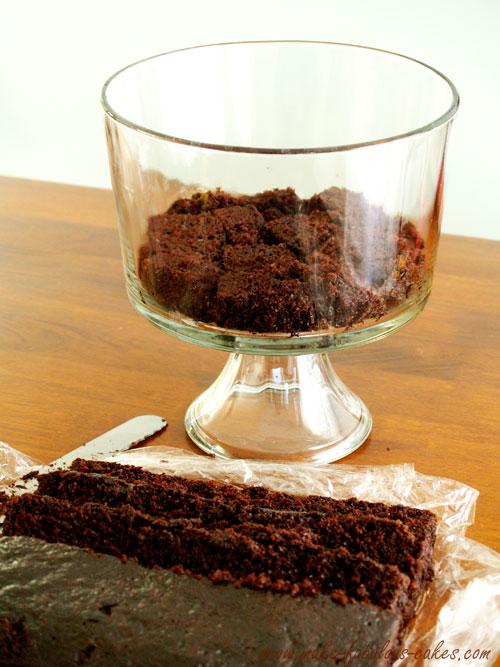 layer 1- chocolate cake
