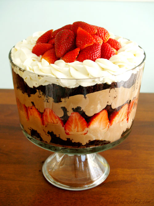 Nutella Mousse Chocolate trifle
