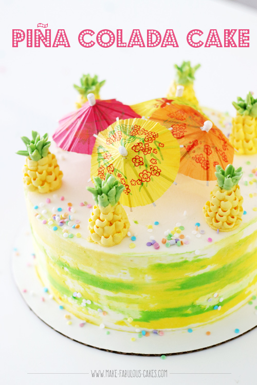 Pia Colada Cake with Buttercream Pineapples