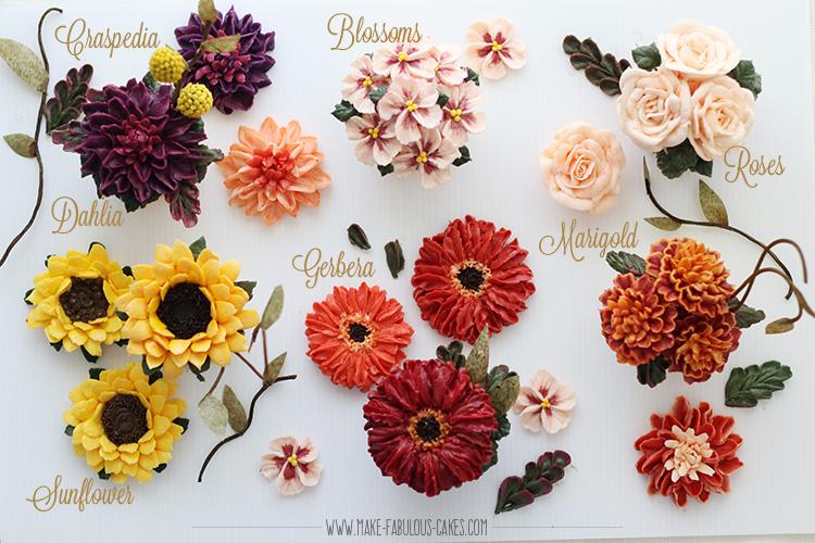 Fall buttercream flowers
