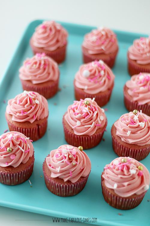 Rosé Champagne cupcakes recipe