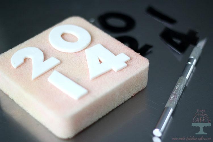 gum paste numbers