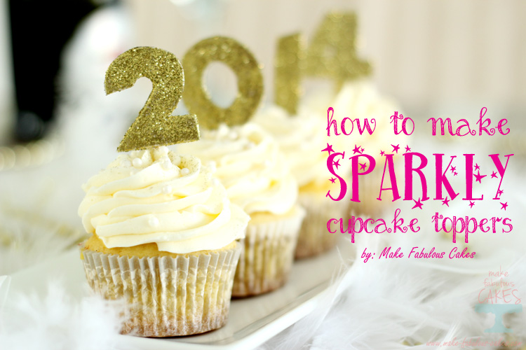 Sparkly Cupcake Topper