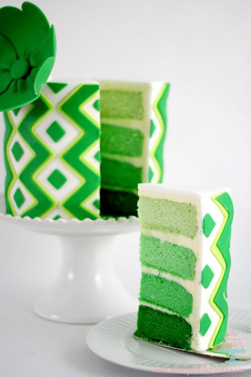 Ombre green Lime Cake