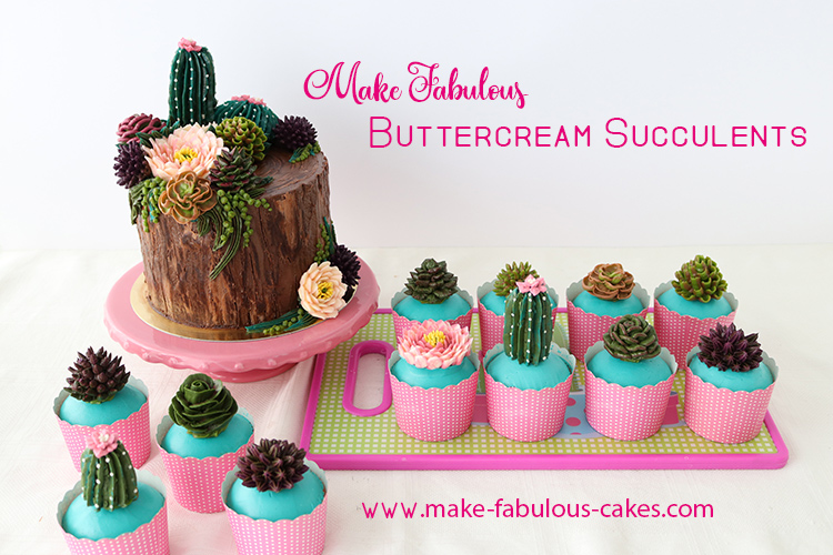 Learn How To Make Fab Buttercream Succulents!