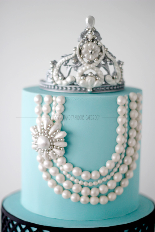 Breakfast At Tiffany's  First Birthday Cake