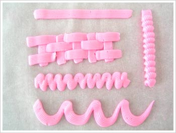 basketweave cake tip designs