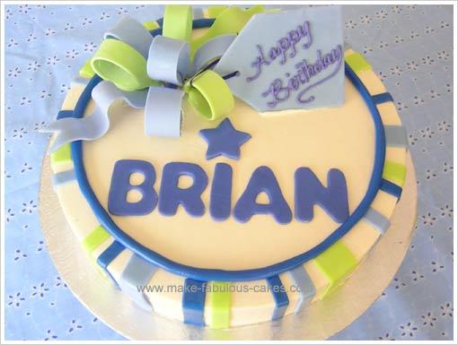 adult birthday cake design