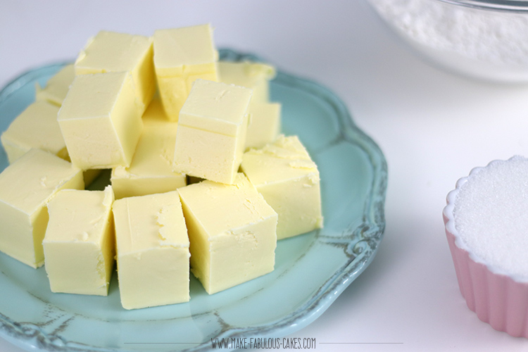 butter cut up in cubes