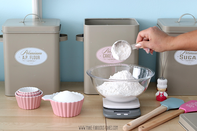 use a digital scale for baking