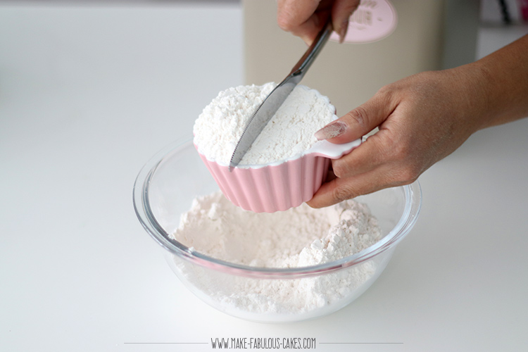 spoon and sweep dry ingredients