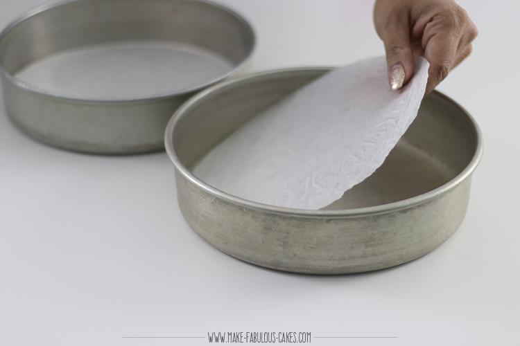 cake baking tip: line pans with parhment paper