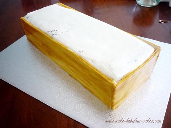 wooden box cake