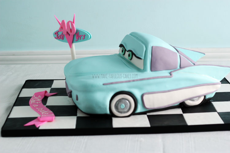 How to make a Flo car cake