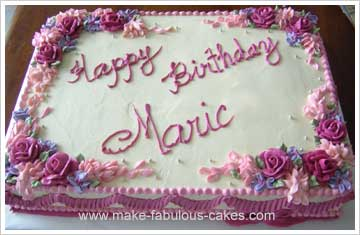 flower birthday sheet cake