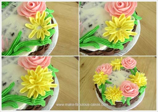 flower cake mums